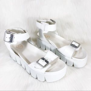 ASH Rocking Chunky Croc Embossed Leather Sandals